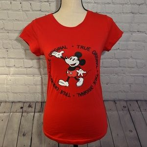 Mickey Mouse Disney Red Short Sleeve Shirt Sz M